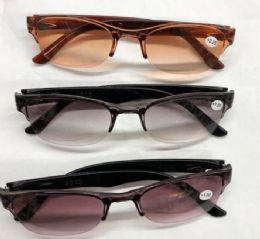 120 Bulk Assorted Colors And Power Lens Plastic Rimless Tinted Reading Glasses Bulk Buy