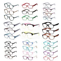 240 Bulk Assorted Colors And Power Lens Plastic Reading Glasses Bulk Buy