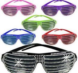 144 Bulk Bling Shutter Shade Sunglasses