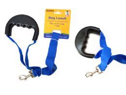 72 Bulk Dog Leash Comfort Grip Handle
