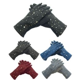 72 Bulk Lady's Star Gloves