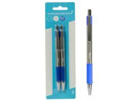 72 Bulk Retractable Classic Ballpoint Pens, Blue (2pk)