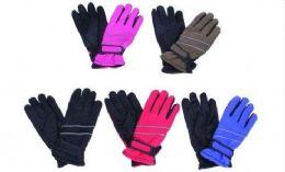 36 Bulk Kids Winter Ski Gloves Assorted Colors