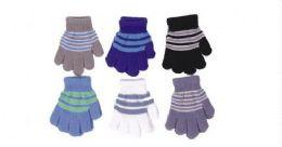 60 Bulk Toddlers Boys Winter Magic Glove Stretchy Warm