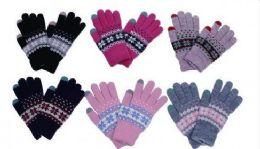 60 Bulk Womens Knitted Winter Stretch Gloves