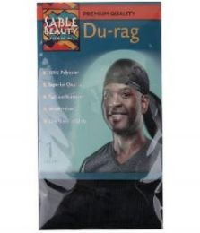 60 Bulk Sable Beauty DU-Rag Black