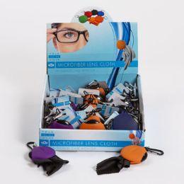 24 Bulk Eyeglass Cloth In Squeeze Case Microfiber