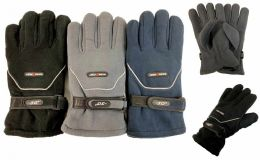 36 Bulk Solid Color Fleece Gloves -30 Degrees Very Warm Sports Glove