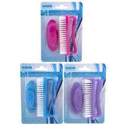 72 Bulk 2 Pack Set Nail Brush