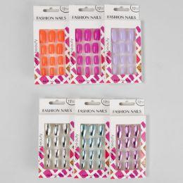 36 Bulk Nails Faux Metallic And Fashion Neons Window Boxed