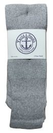 36 Bulk Yacht & Smith Men's 32 Inch Cotton King Size Extra Long Gray Tube SockS- Size 13-16