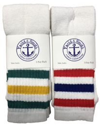 240 Bulk Yacht & Smith King Size Men's 31-Inch Terry Cushion Cotton Extra Long Tube SockS- Size 13-16