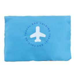 "24 Bulk 17"" Lightweight Foldable Bulk Tote Bags In Blue"