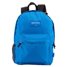 "24 Bulk 18"" Classic Royal Backpacks With Side Mesh Water Bottle Pocket"
