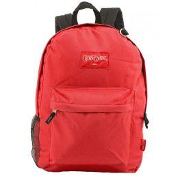 "24 Bulk 18"" Classic Red Backpacks With Side Mesh Water Bottle Pocket"