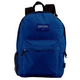 "24 Bulk 18"" Classic Navy Backpacks With Side Mesh Water Bottle Pocket"