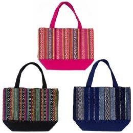 24 Bulk Insulated Lunch Bags In 3 Assorted Jute Prints