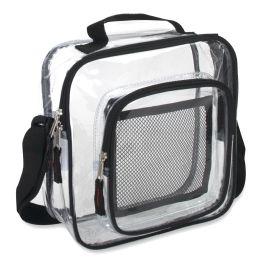 24 Bulk Clear Toiletry Bag - Black