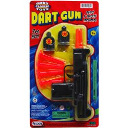 "48 Bulk 7.5"" Soft Dart Toy Uzi W/targets On Blister Card"
