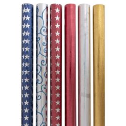 48 Bulk Gift Wrap Metallic Foil