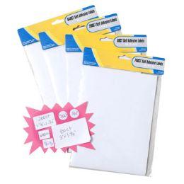 48 Bulk Labels Self Stick White Blank