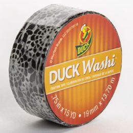 24 Bulk Tape Crafting Duck Washi Black Medallion