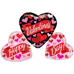 15 Bulk Valentines Heart Shaped Balloon