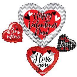 15 Bulk Happy Valentines Day Heart Shaped Balloon