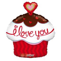 50 Bulk I Love You Valentines Day Cupcake Balloon