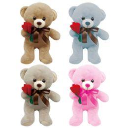 24 Bulk Valentine Plush Bear With Heart