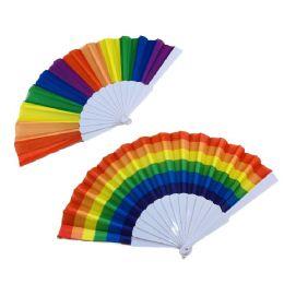 24 Bulk Rainbow Folding Fan