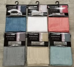 24 Bulk Shower Curtain Spa Collection With Hooks