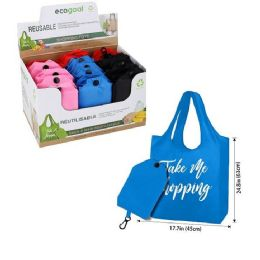 24 Bulk Reusable Folding Shopping Bag