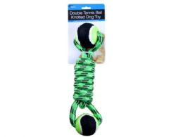 9 Bulk Double Tennis Ball Knotted Dog Toy