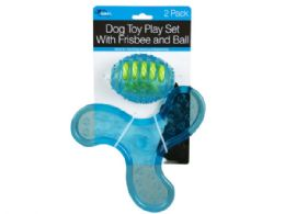 18 Bulk 2 Pack Dog Toy Play Set With Frisbee And Ball