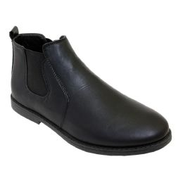 12 Bulk Mens Casual Chukka Ankle Boots In Black