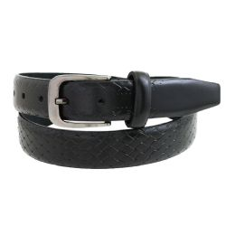 36 Bulk Mens Casual Dress Belt In Black