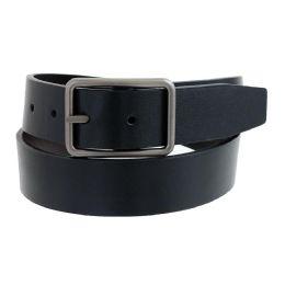 36 Bulk Mens Casual Dress Reversible Belt In Black