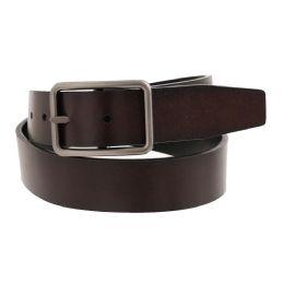 36 Bulk Mens Casual Dress Reversible Belt In Brown