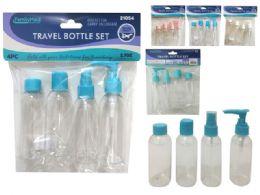 96 Bulk Travel Bottle 4pc / Set Solid