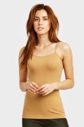 72 Bulk Ladies Camisole In Beige