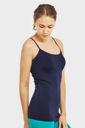72 Bulk Ladies Camisole In Navy
