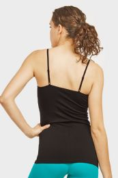 72 Bulk Ladies Camisole In Black