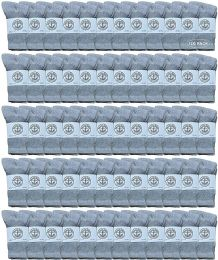 120 Bulk Yacht & Smith Wholesale Kids Crew Socks, With Free Shipping Size 6-8 (gray)