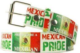 96 Bulk Mexican Pride Printed Belt