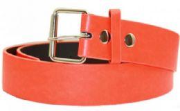 36 Bulk Neon Orange Mixed Size Plain Belt