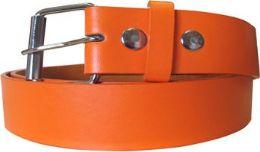 36 Bulk Mixed Size Orange Plain Belt