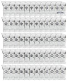 60 Bulk Yacht & Smith Wholesale Kids Crew Socks, With Free Shipping Size 4-6 (white)