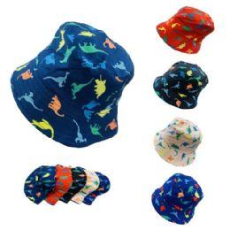 24 Bulk Child's Bucket Hat [dinosaurs]