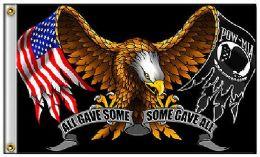 24 Bulk Eagle Flag With Flag Pow Wings